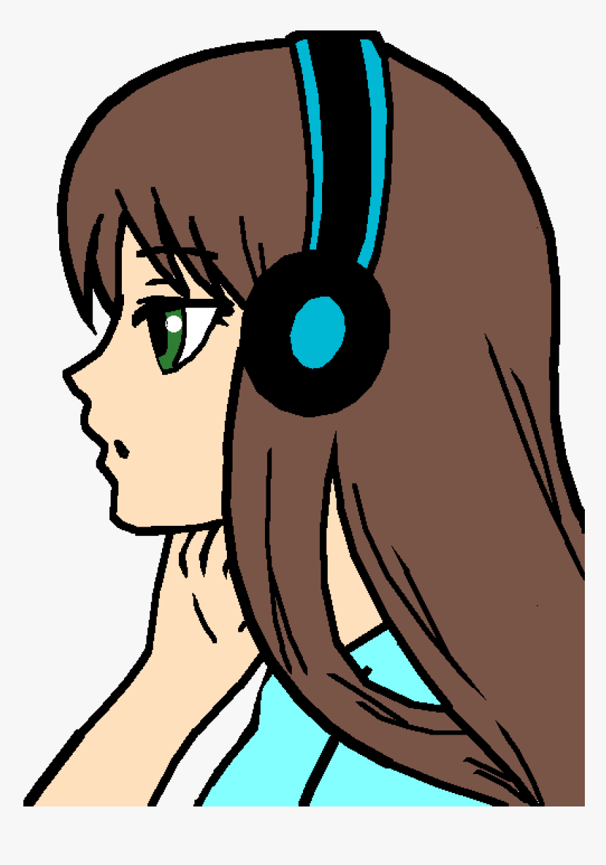 Me As An Anime Girl By Nerdy-me - Anime Girls Easy, HD Png Download, Free Download