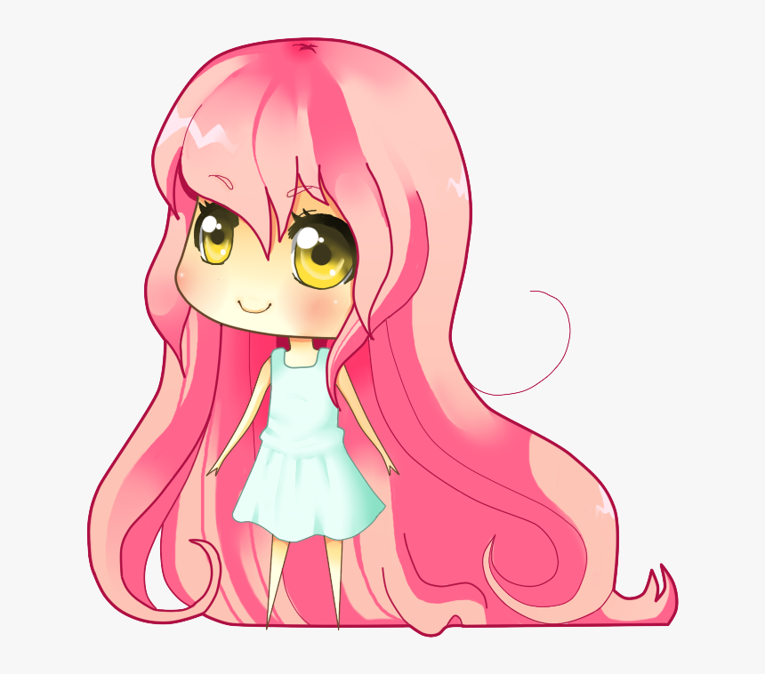 Pink Hair And Golden Eyes By Elvirarawrr-d3ld7p8 - Anime Chibi Girl With Pink Hair, HD Png Download, Free Download