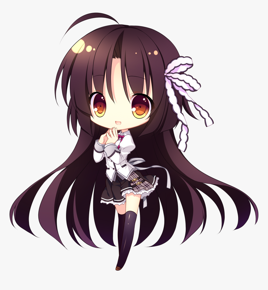 Anime Chibi School Girl, HD Png Download, Free Download