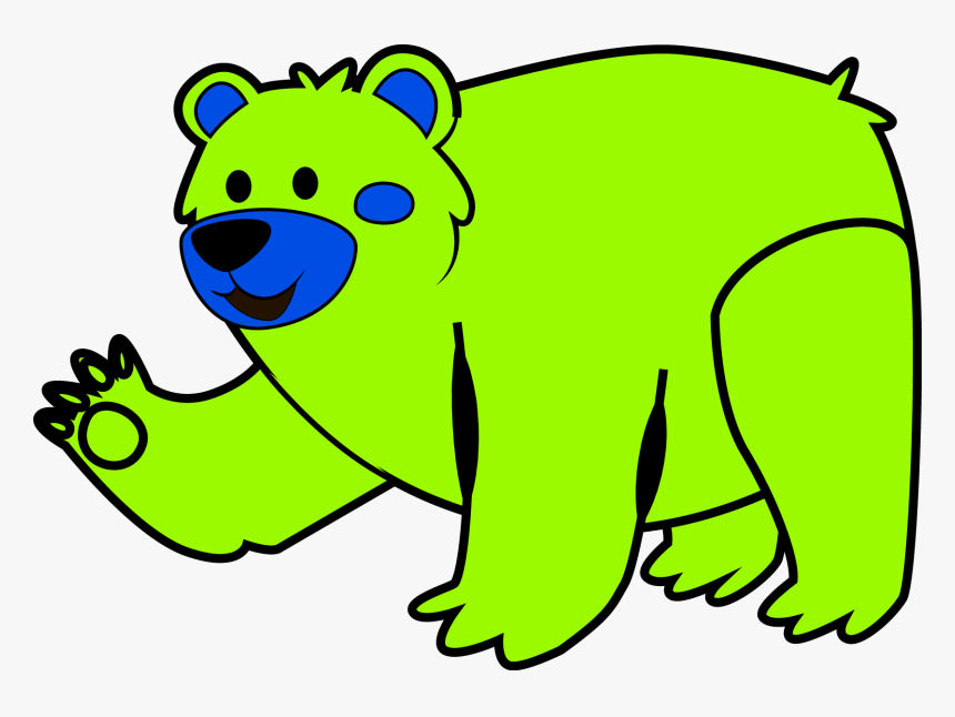 Cute Animal Bear Clipart Clip Art Png - Desenho De Urso Para Colorir, Transparent Png, Free Download