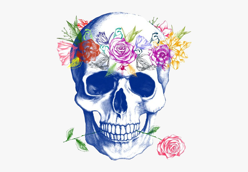 Cartoon Skull With Flower Crown Hd Png Download Kindpng You can edit any of drawings via our online image editor before downloading. cartoon skull with flower crown hd png