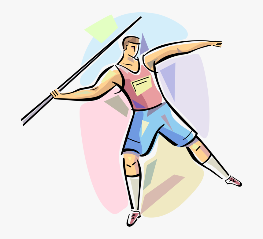 Vector Illustration Of Track And Field Athletic Sport - Athletics Throwing Events Clipart, HD Png Download, Free Download