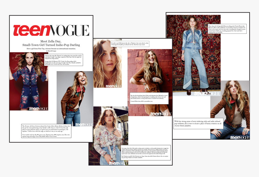 Pack Of 3 Teen Vogue Large Binder Clips - Teen Vogue, HD Png Download, Free Download