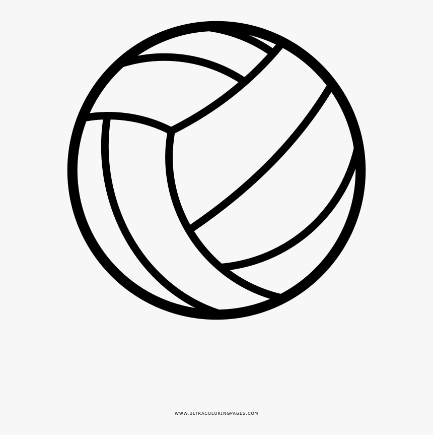 Volleyball Coloring Pages - Pallone Da Pallavolo Disegno Da Colorare, HD Png Download, Free Download