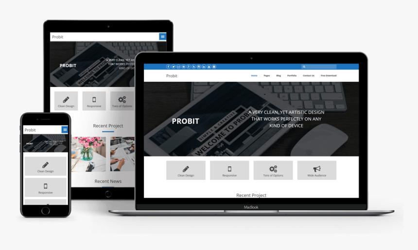 Free Wordpress Theme - Wordpress Responsive Theme, HD Png Download, Free Download