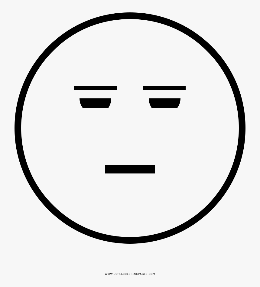 - Suspicious Face Coloring Page - Smiley, HD Png Download - Kindpng