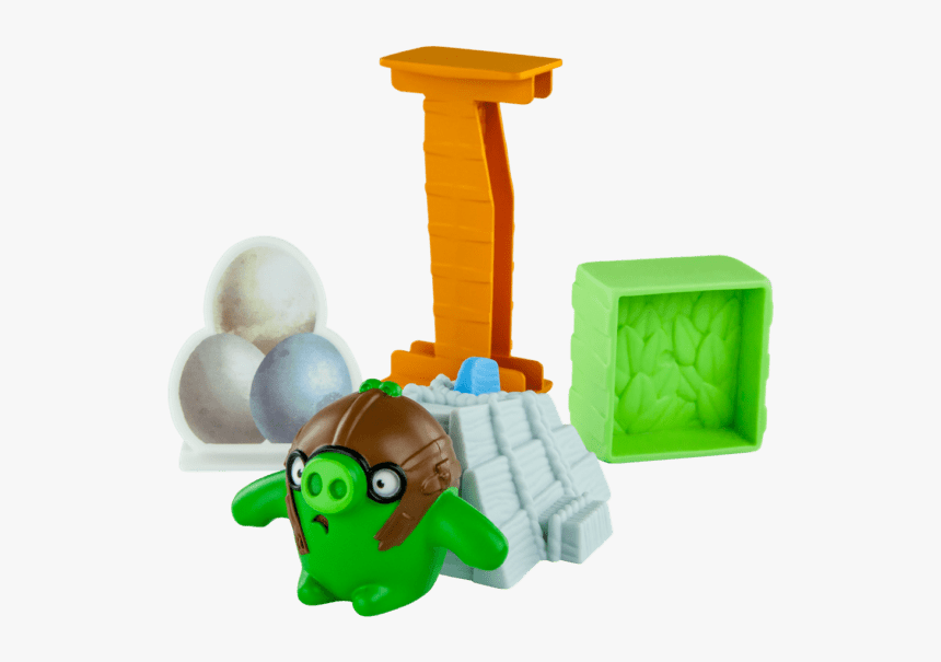 Load Pilot Pig Onto Slingshot Launcher - Mcdonalds Happy Meal Angry Birds, HD Png Download, Free Download