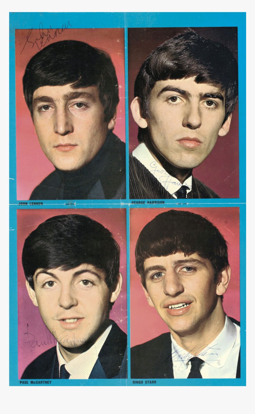 Signed Portraits Of The Group Sold For £4,375 - Most Handsome Beatles Member, HD Png Download, Free Download