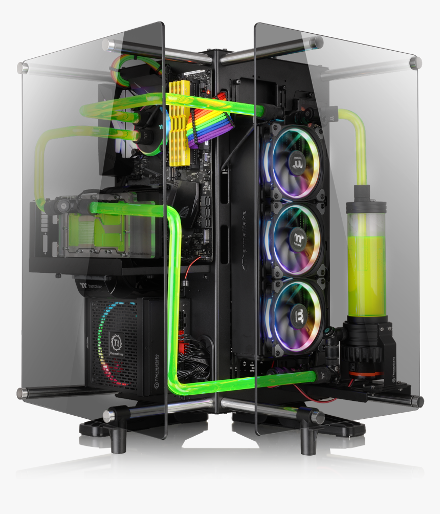 Thermaltake Core P90 Tempered Glass Black, HD Png Download, Free Download