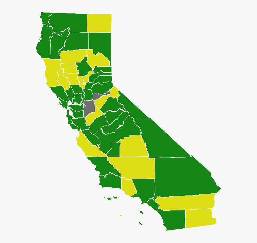 California Green Presidential Primary Election Results - California Map, HD Png Download, Free Download