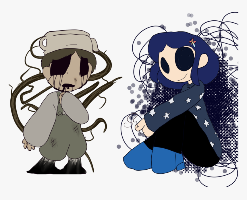 Picture Freeuse Coraline Drawing Realistic Bad End Friends Coraline Hd Png Download Kindpng