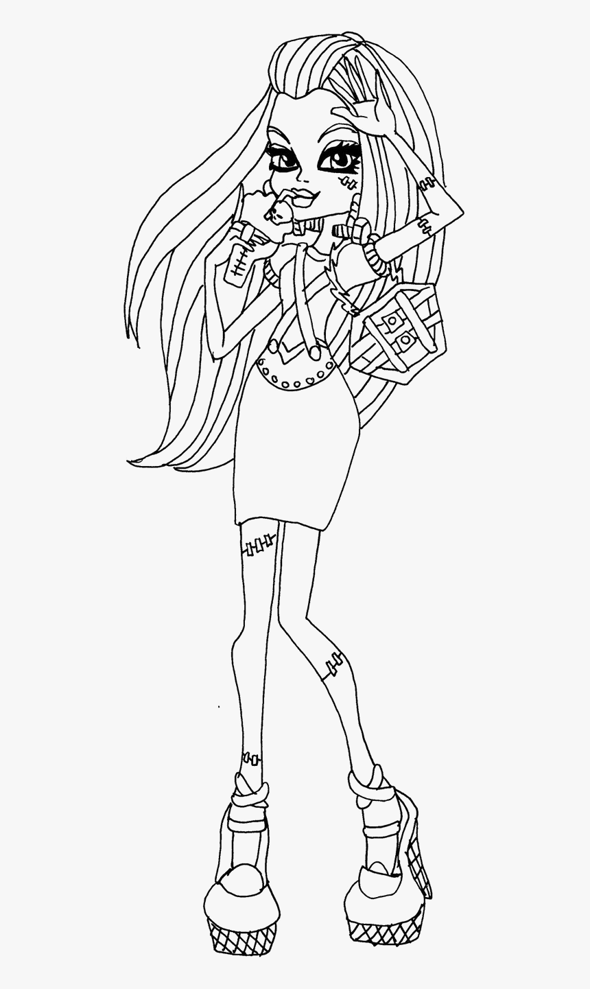 Frankie Monster High Colouring Pages Hd Png Download Kindpng
