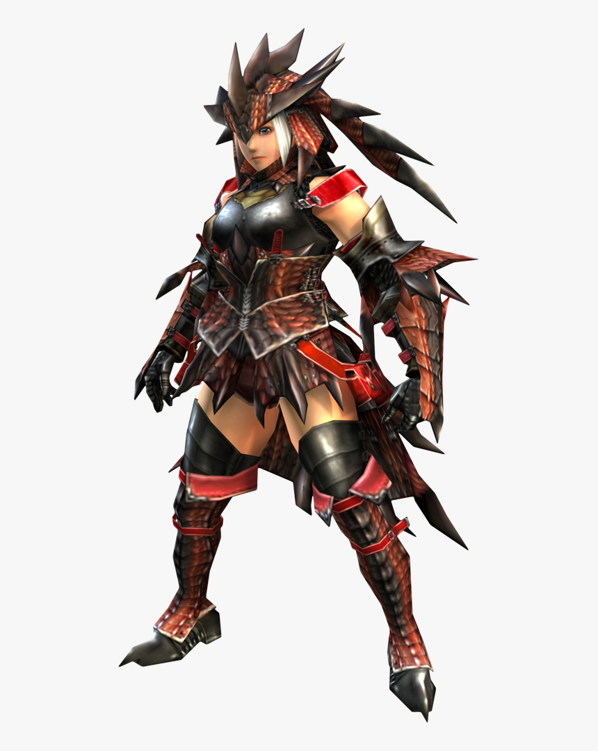 Monster Hunter Rathalos Armor Female Hd Png Download Kindpng