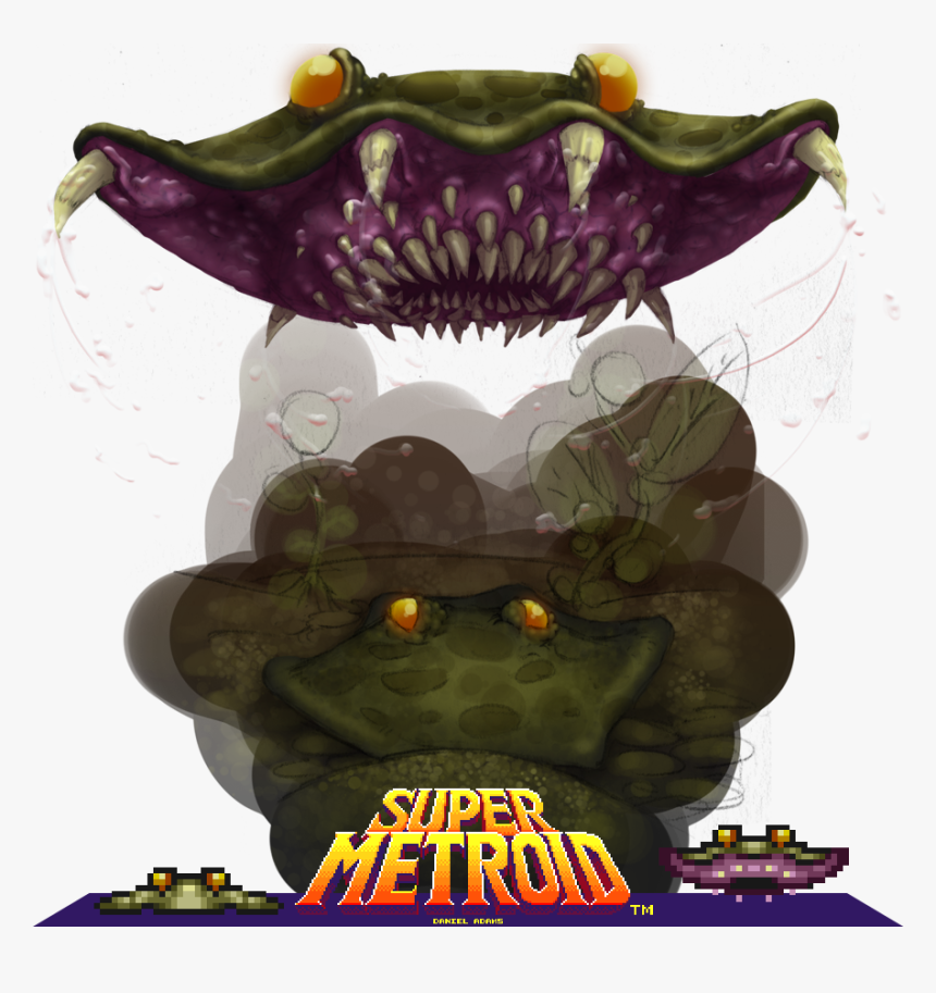 This Is A Chutleach From The Water Area In Super Metroid - Poster, HD Png Download, Free Download