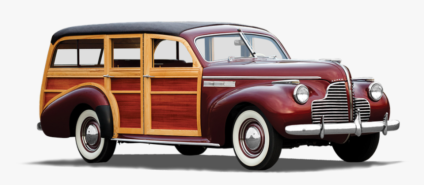 Buick, Station Wagon-station Wagon, 1940, Isolated - 50's 1940's Station Wagon, HD Png Download, Free Download