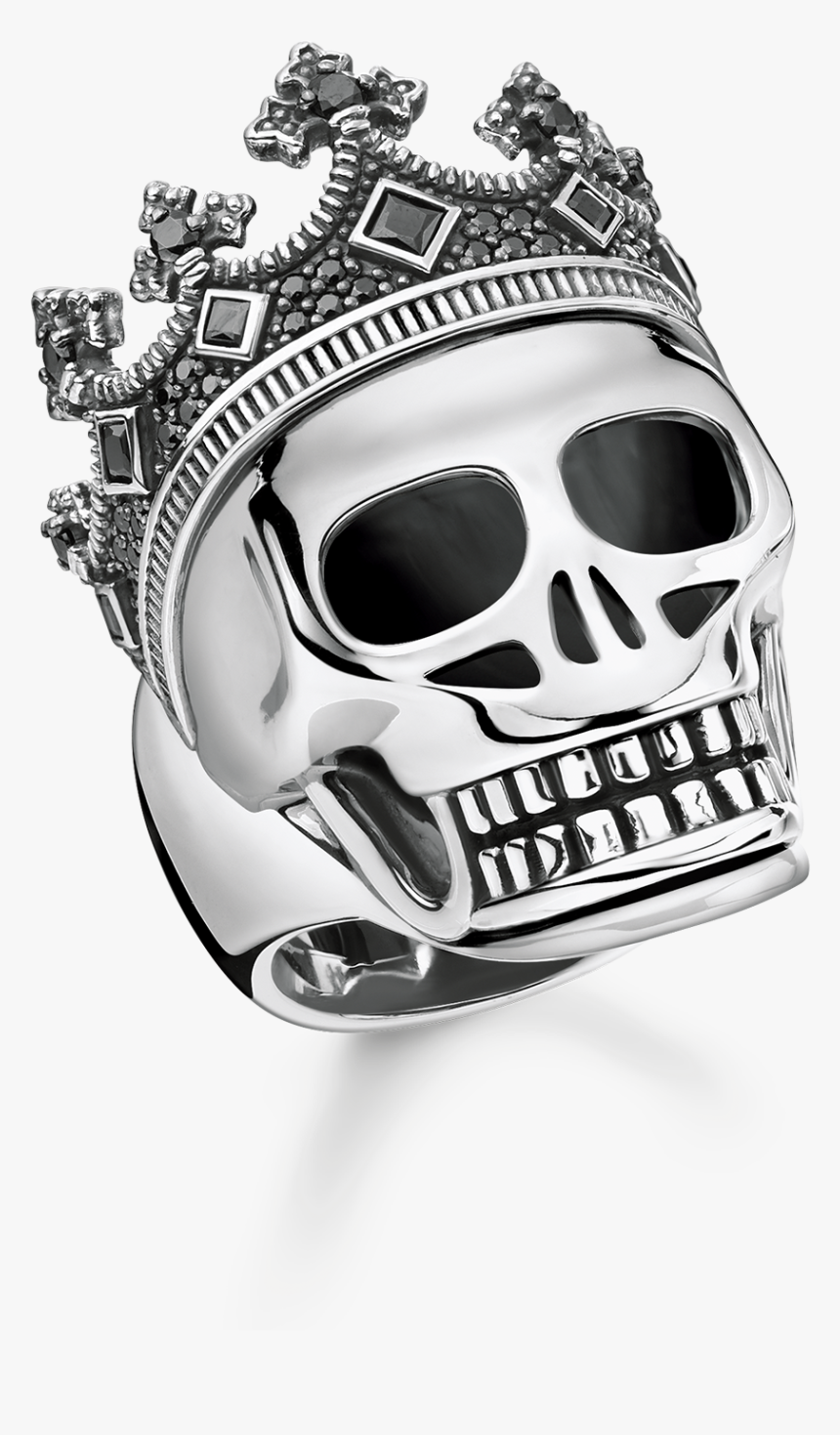 44mm King Of Hearts Charm Silver Yellow Plated Playing - Bague Thomas Sabo Tete De Mort, HD Png Download, Free Download