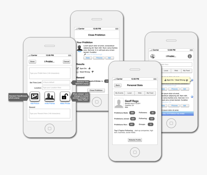 Social Media App Wireframe Design - Best Social Networking App Designs, HD Png Download, Free Download