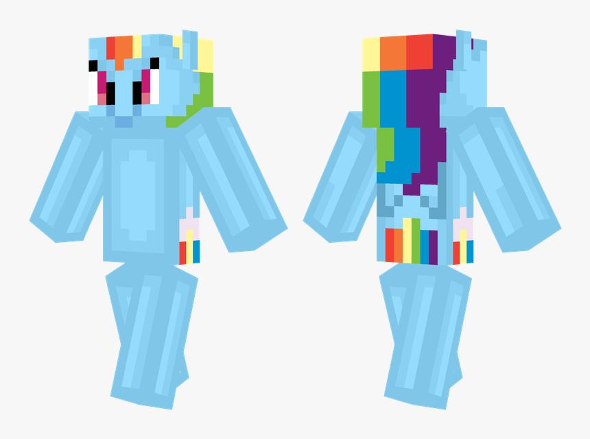 Minecraft Skin Steve Hd , Png Download - Minecraft Rainbow Dash Skin, Transparent Png, Free Download