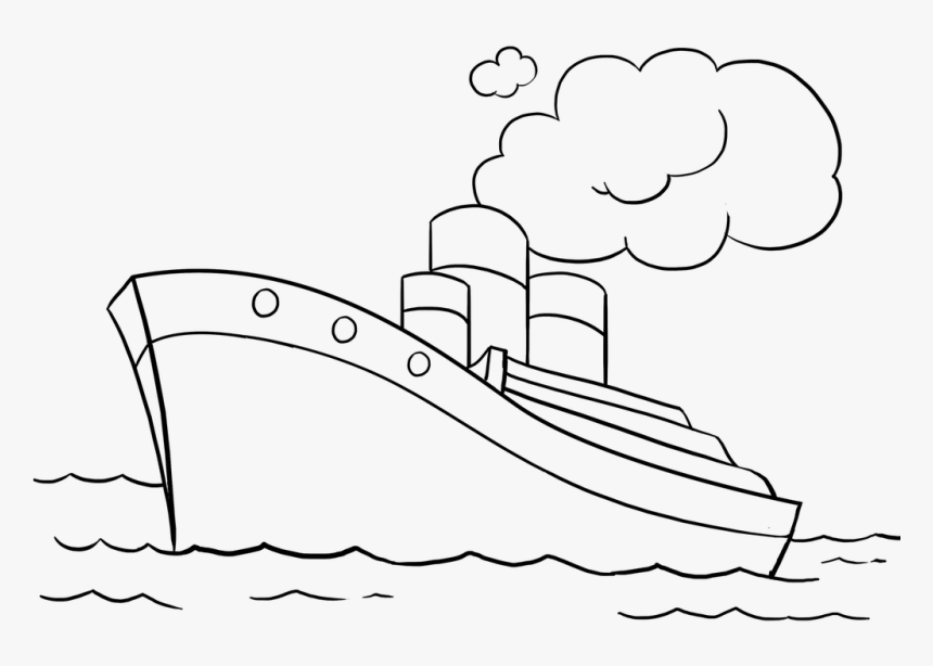 Easy Drawing Guides Twitter Learn How To Draw A Ship Water Transport Images For Drawing Hd Png Download Kindpng