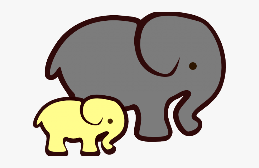 Elephant Clipart Vector - Grey And Yellow Elephant, HD Png Download, Free Download