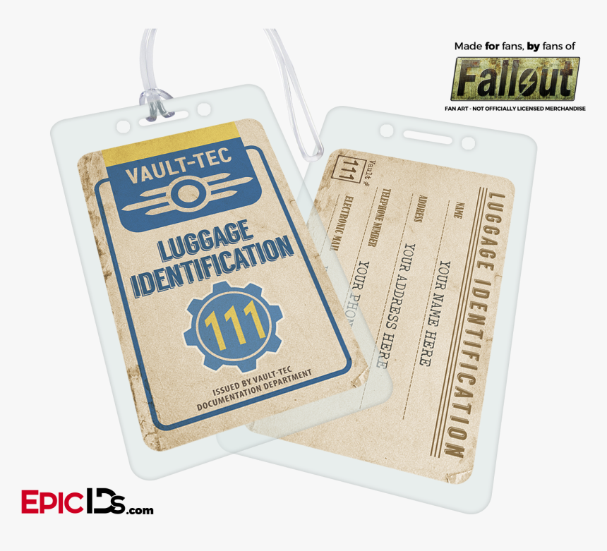 """Vault Dweller/wasteland Explorer """"fallout - Fallout Vault Id Card, HD Png Download, Free Download"""