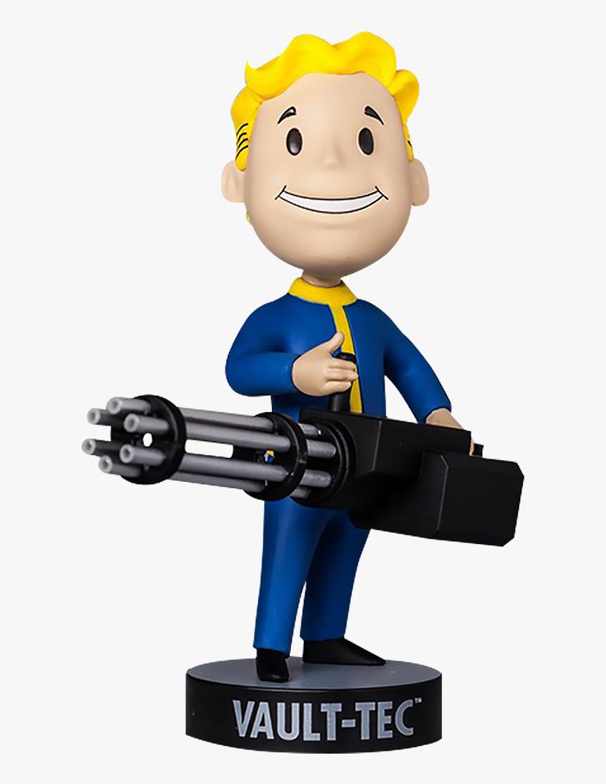 Fallout Big Guns Vault Boy 111 Bobblehead , Png Download - Fallout Vault Boy Big Gun, Transparent Png, Free Download