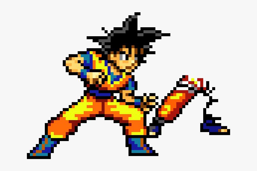 Goku Pixel Art Png, Transparent Png, Free Download