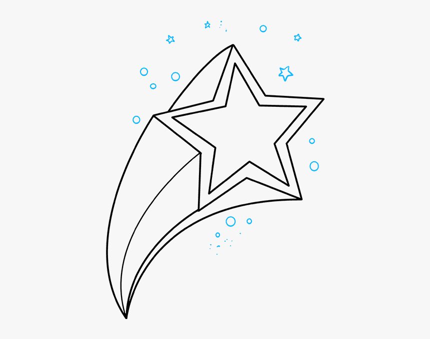 How To Draw Shooting Star - Shooting Stars Drawing, HD Png Download, Free Download