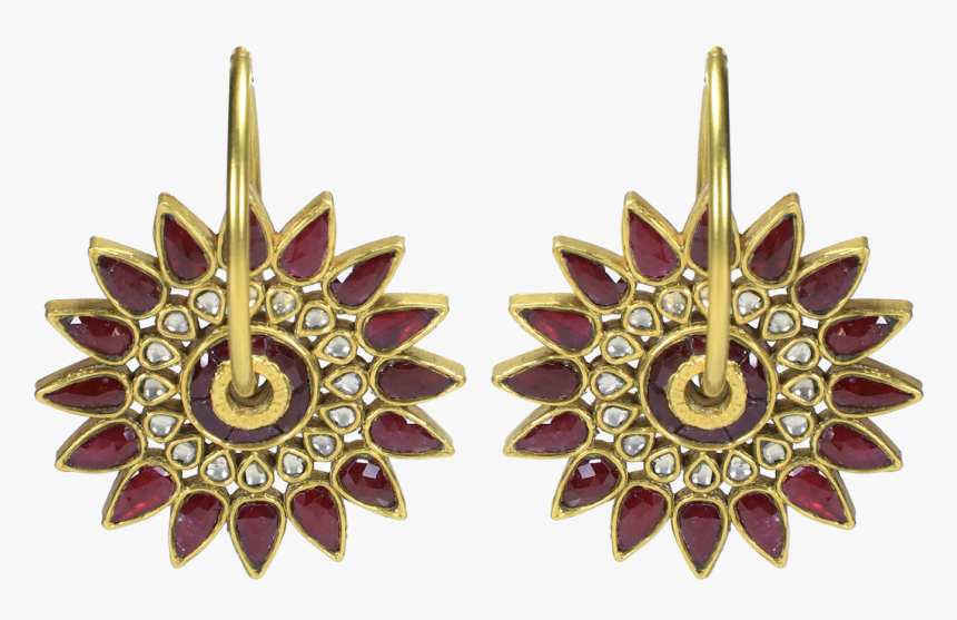 Colour Flower Drop Earrings, HD Png Download, Free Download