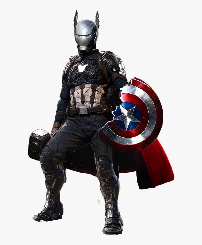 #ironman #avengers #avengersendgame #kkursunasker #marvel - Captain America Thor Iron Man Mix, HD Png Download, Free Download
