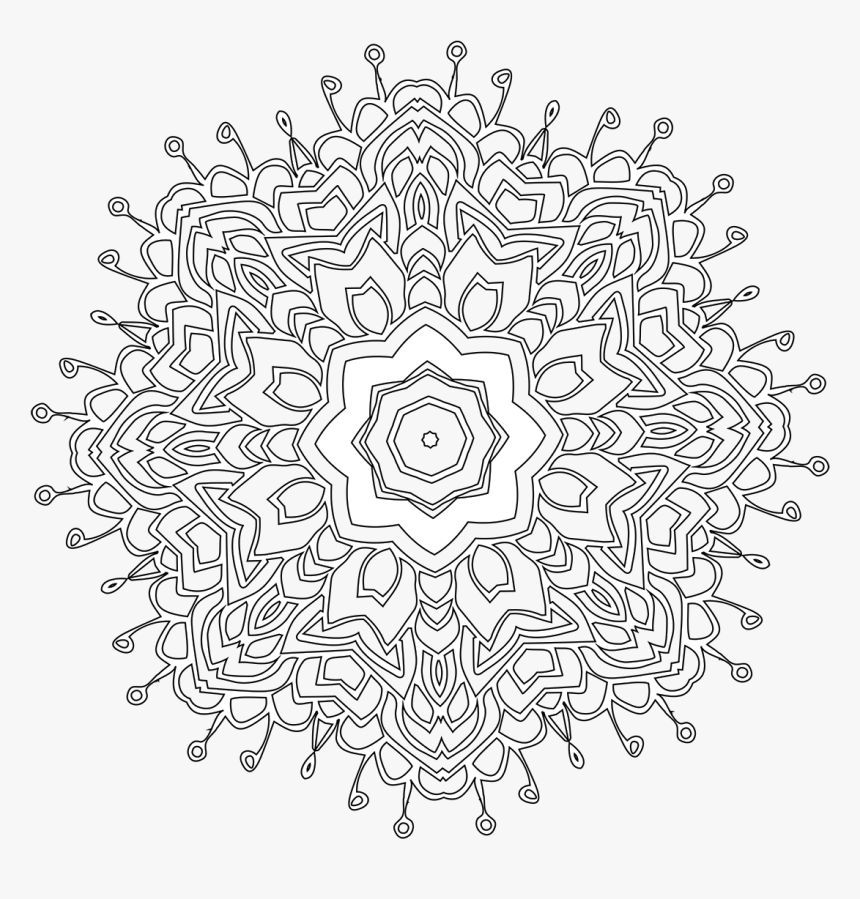 Tumblr Png Coloring Pages Flower Cute Pretty Design - Circle, Transparent Png, Free Download