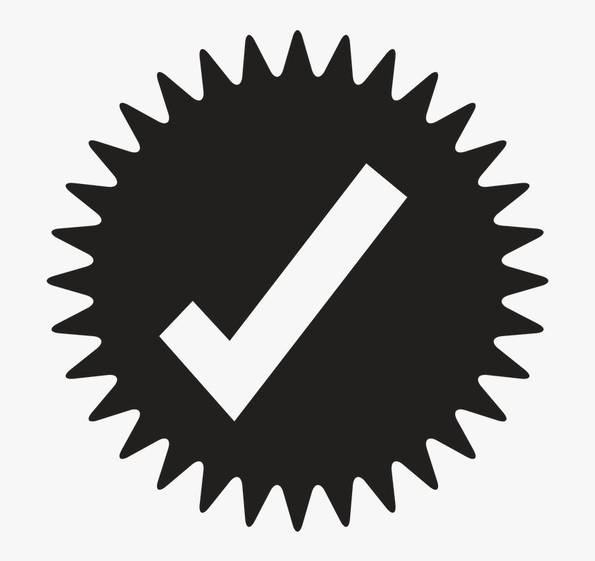 Check Mark - Gold Star Burst Png, Transparent Png, Free Download