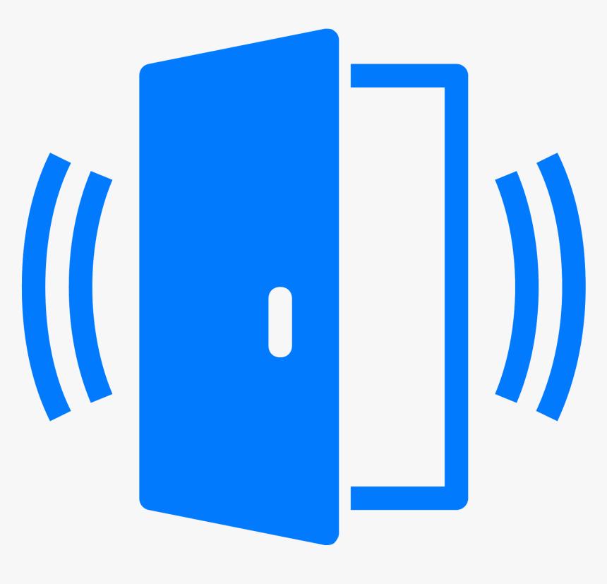 Door Clipart Blue Door - Door Contact Sensor Icon, HD Png Download, Free Download