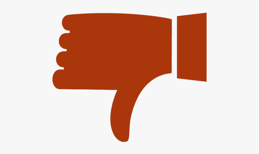 Red Thumbs Down Clipart, HD Png Download, Free Download