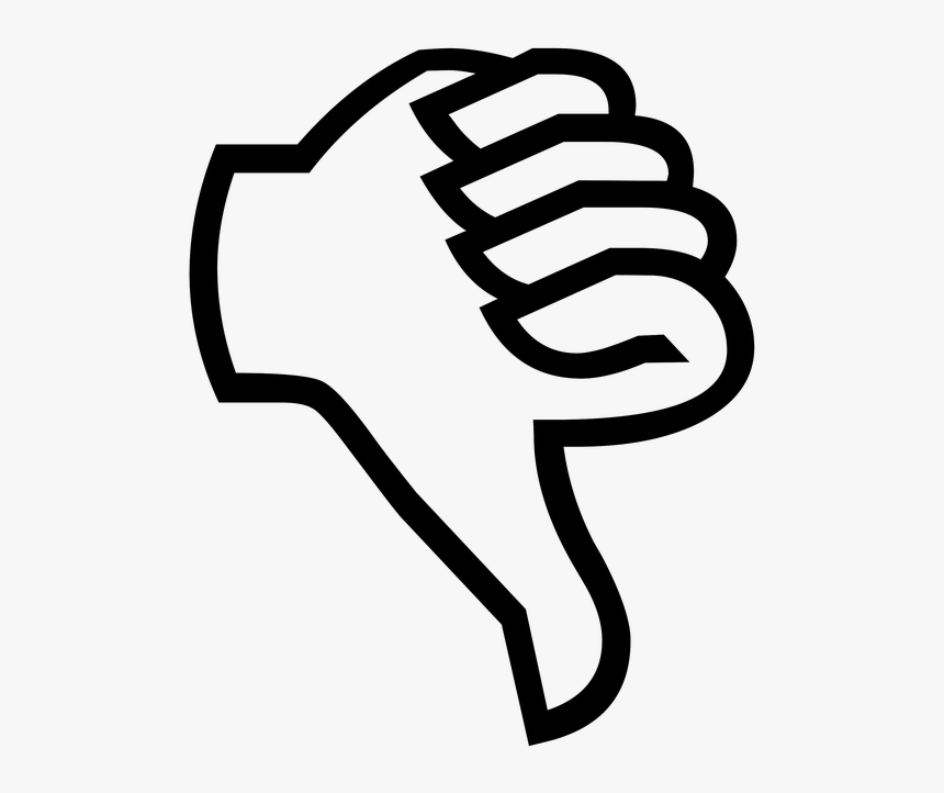 Thumb Down, Thumbs Down, Disapprove, Gesture, Finger - Thumbs Down Cartoon Transparent, HD Png Download, Free Download