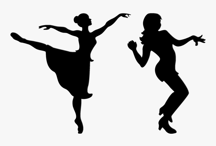 Ballet Dancer Free Dance Silhouette Clip Art Ballerina Black And White Clipart Hd Png Download Kindpng