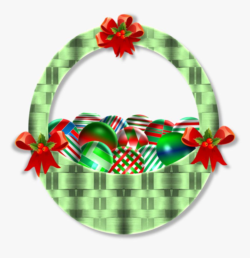 Christmas Basket Ornaments Free Photo - Christmas Basket, HD Png Download, Free Download