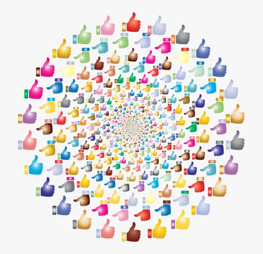 Plastic,thumb Signal,thumb - Lots Of Thumbs Up, HD Png Download, Free Download