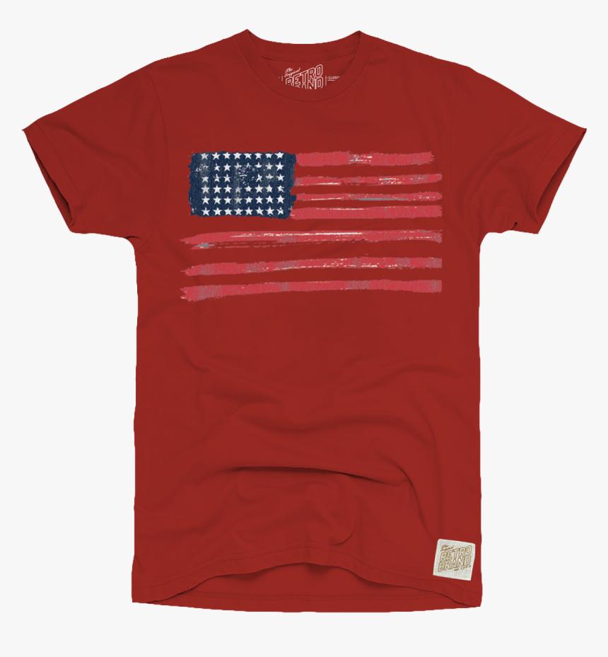 "American Flag Men""s Vintage Tee - Pocket, HD Png Download, Free Download"