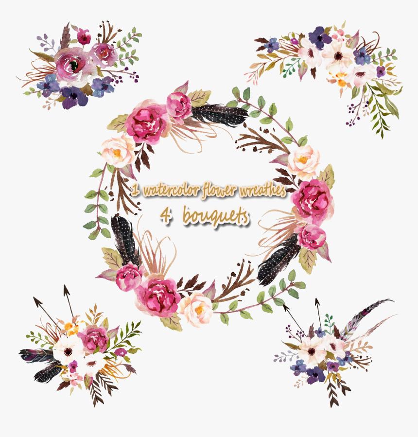 Floral Frame Png Photo Birthday Invitation Card Bohemian