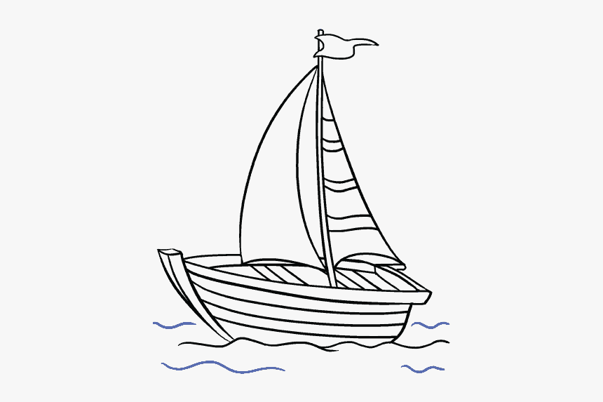 How To Draw A Boat In A Few Easy Steps Easy Drawing Fishing Boat Drawing Easy Hd Png Download Kindpng