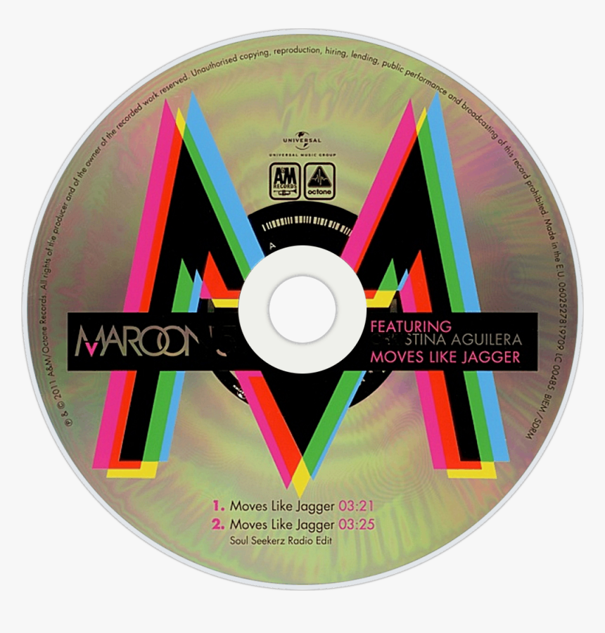 Maroon 5 Moves Like Jagger Cd, HD Png Download, Free Download