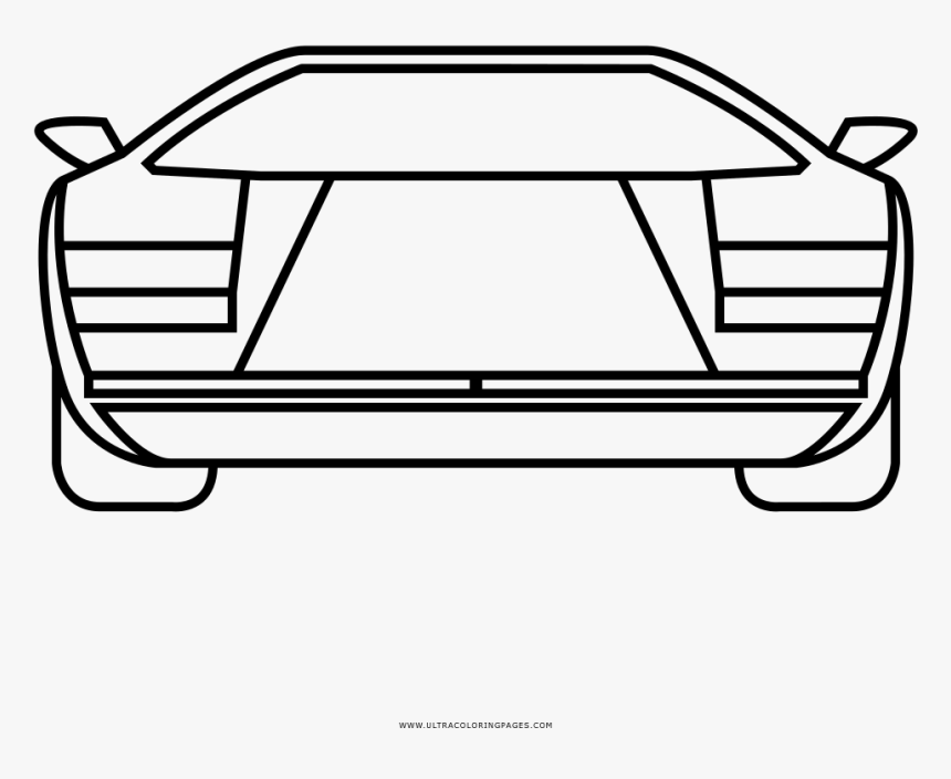 Countach Coloring Page - Line Art, HD Png Download, Free Download