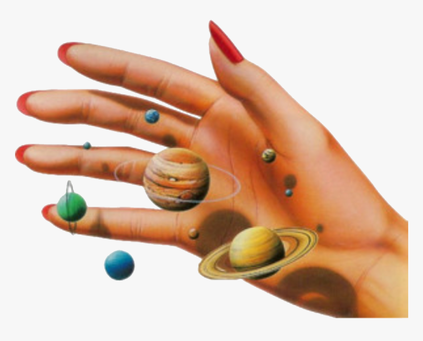 Hand With Planets Png, Transparent Png, Free Download