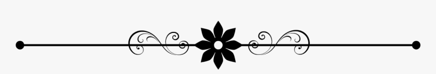 Flower Line Png - Clip Art Page Break, Transparent Png, Free Download