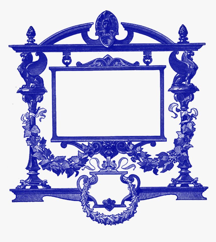 Transparent Baroque Frame Png - Printable Vintage Wine Labels, Png Download, Free Download
