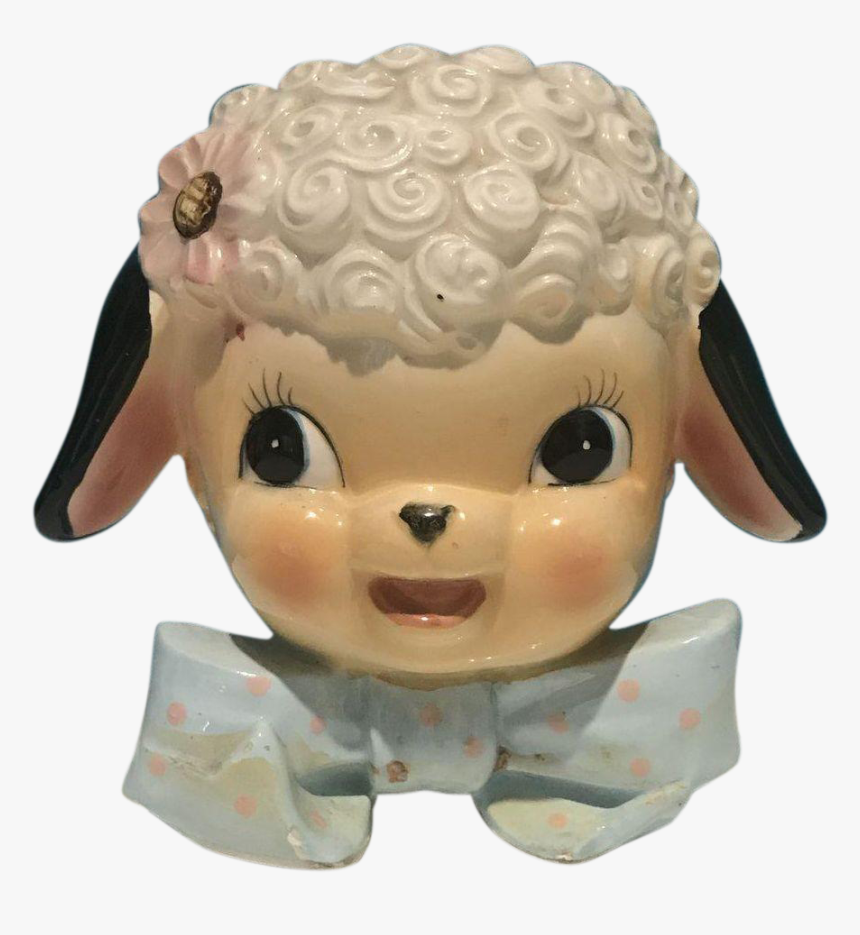 """Baby Lamb""""s Head Vase By Dickson - Figurine, HD Png Download, Free Download"""