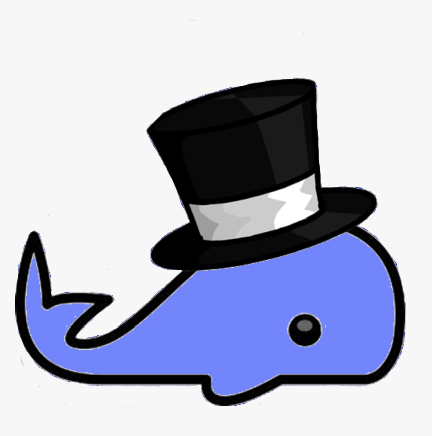 Transparent Cute Whale Png - Whale With A Top Hat, Png Download, Free Download