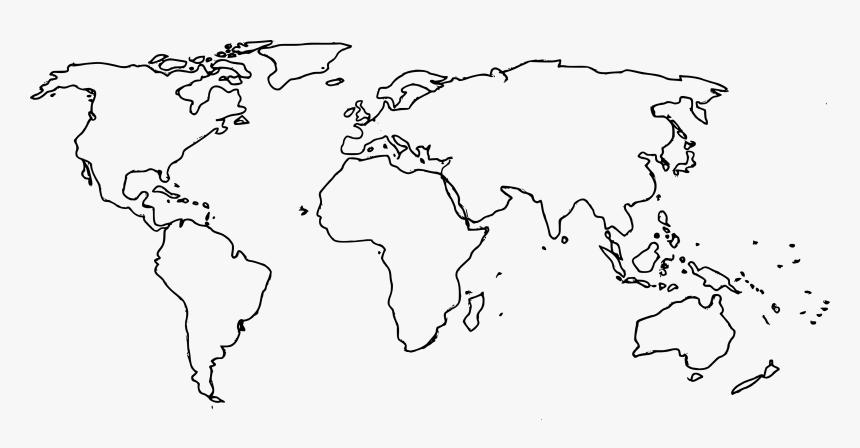 High Resolution World Map Outline Pdf Hd Png Download Kindpng