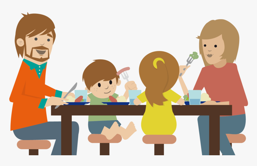 Make Parenting Fun And Rewarding With Love And Logic - Family Eating Dinner Clipart, HD Png Download, Free Download